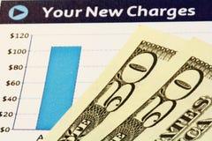 Neues Ladung-Diagramm mit US-Dollar lizenzfreie stockfotos