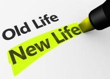 Neues Leben gegen altes Leben-Konzept Stockfoto