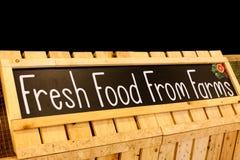 Neues Lebensmittel von der Bauernhoffahnen-Tafelphotographie Stockbilder