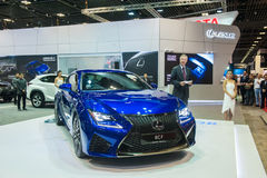Neues Lexus RC-F im Singapur Motorshow 2015 Stockfotos