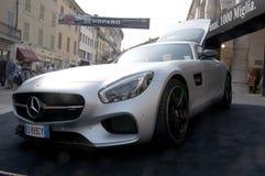 Neues Mercedes-AMG GT 2015 errichtet Lizenzfreie Stockbilder