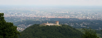 Neues Mitglied EU, Kroatien/Zagreb, Panorama lizenzfreie stockfotos