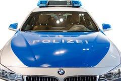 Neues modernes Modell der deutschen Polizeiaufgabenpatrouille BMW  Stockbild