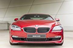 Neues modernes Modell von exklusiven Geschäftslimousinen BMWs 640i Stockfotografie
