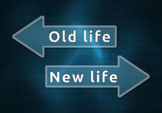 Neues oder altes Leben Lizenzfreies Stockbild