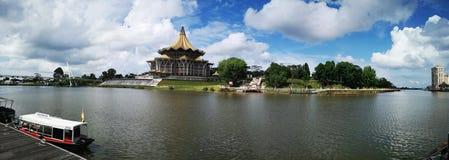 Neues Parlamentsgebäude Sarawaks, Malaysia lizenzfreie stockfotos