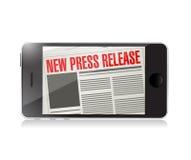 neues Pressemitteilungstelefonnachrichten-Illustrationsdesign Lizenzfreie Stockfotos