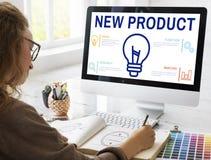 Neues Produkt-Handels-Produkteinführungs-Förderungs-Konzept stockfotografie