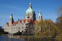 Neues Rathaus在汉诺威,德国 库存图片