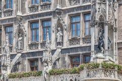 Neues Rathaus大厦在慕尼黑,德国 库存照片