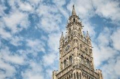 Neues Rathaus budynek w Monachium, Niemcy Obraz Stock