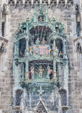 Neues Rathaus carillion in Munich, Germany Royalty Free Stock Photo
