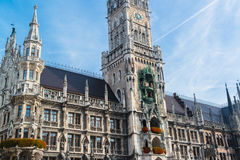 Neues Rathaus Marienplatz Munchen Stockbild