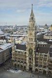 Neues Rathaus am Marienplatz w MÃ ¼ nchen Zdjęcie Stock