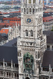 Neues Rathaus in Munich. Gothic architecture royalty free stock image