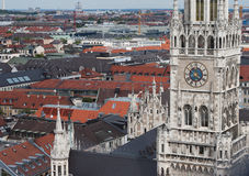 Neues Rathaus in Munich. Gothic architecture royalty free stock images