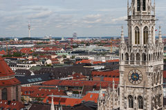 Neues Rathaus in Munich. Gothic architecture stock images