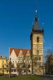 Neues Rathaus. Prag. Stockbild