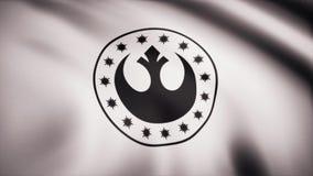 Neues Republik-Symbol Star Warss auf Flagge Das Krieg der Sternes-Thema Gebrauch des Leitartikels nur stock abbildung