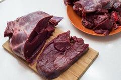 Neues Rindfleischstück in der Nahaufnahme stockfotografie