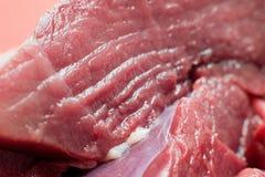 Neues Rindfleischstück in der Nahaufnahme stockbilder
