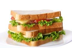 Neues sandvich mit Gemüse und Tomaten Lizenzfreie Stockfotografie