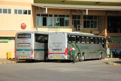 Neues Scania 15-Meter-Bus von Greenbus-Firma Stockbild