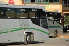 Neues Scania 15-Meter-Bus von Greenbus-Firma Stockfotos