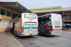 Neues Scania 15-Meter-Bus von Greenbus-Firma Lizenzfreies Stockfoto