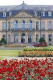 Neues Schloss新的城堡 18世纪的宫殿在巴洛克式的样式的在德国,斯图加特 免版税库存图片