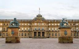 Neues Schloss (το νέο Castle) στη Στουτγάρδη, Γερμανία Στοκ φωτογραφία με δικαίωμα ελεύθερης χρήσης