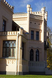 Neues Schloss Aluksne in Lettland stockfotos