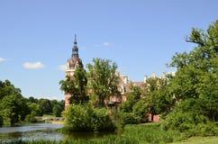 Neues Schloss in falschem Muskau Stockfotografie