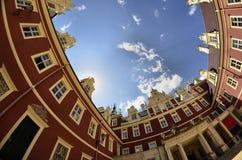 Neues Schloss in falschem Muskau Lizenzfreies Stockfoto