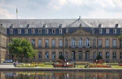 Neues Schloss Neues Schloss Palast des 18. Jahrhunderts in der barocken Art in Deutschland, Stuttgart Lizenzfreie Stockfotografie