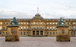 Neues Schloss (New Castle) in Stuttgart, Germany Royalty Free Stock Photography