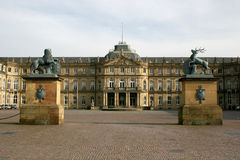 Neues Schloss in Stuttgart Stock Photos