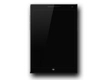 Neues schwarzes Tablet Stockbild