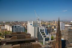 Neues Scottish Power hat im Bau vom Berggipfel-Gebäude Hauptsitz Stockfoto