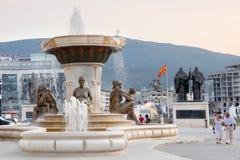 Neues Skopje stockfotografie