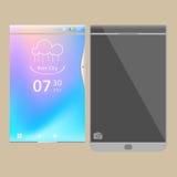 Neues Smartphonemodell Stockfoto