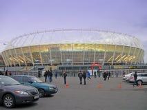 Neues Sportstadion in Kiew, Fußballaufbau stockfotografie