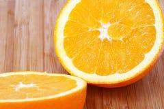Neues Stück der Orange Lizenzfreies Stockbild
