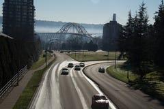 Neues St. Westminster-McBride und Pattullo-Brücke lizenzfreies stockbild