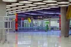 Neues Terminal des Madrid-Flughafens lizenzfreies stockbild