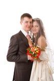 Neues verheiratetes Paar lizenzfreie stockbilder
