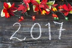 Neues Year& x27; s-Gruß-Karte 2017 Stockbild