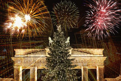 Neues Year& x27; s Eve in Berlin Lizenzfreies Stockfoto