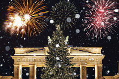 Neues Year& x27; s Eve in Berlin Lizenzfreie Stockbilder
