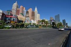Neues York-neues York-Hotel u. Kasino, Ballungsraum, Stadt, Skyline, Straße stockfoto